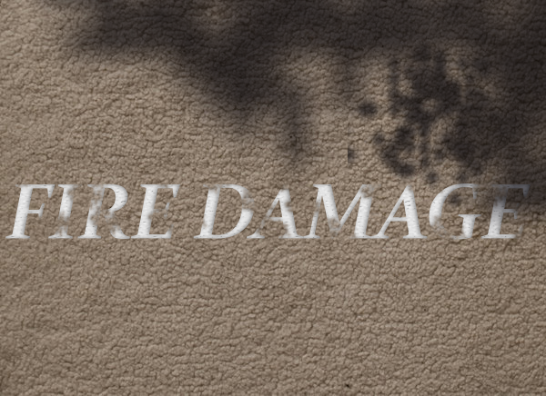 Carpet Fire Damage